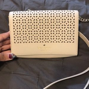 Kate Spade cream/taupe crossbody purse